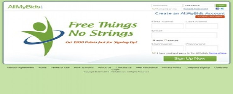 AllMyBids - Free Things No Strings