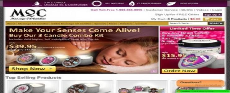 MocCandles - Massage Oil Candles